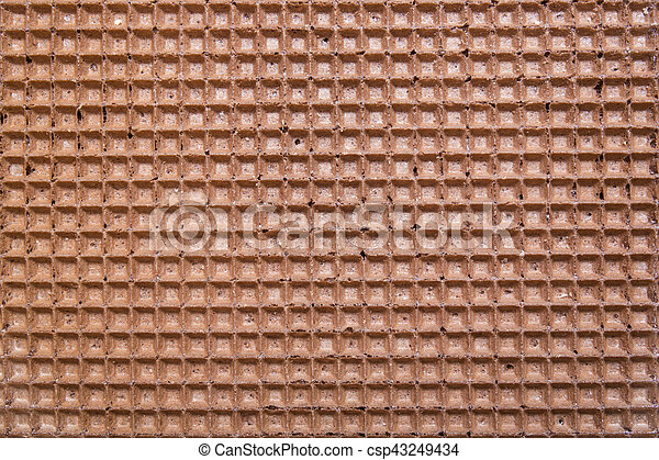 brown wafer background or texture - csp43249434