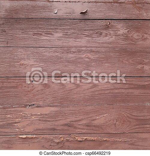 Brown wall of horizontal boards - csp66492219