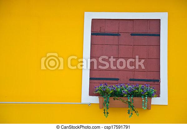 Brown window - csp17591791