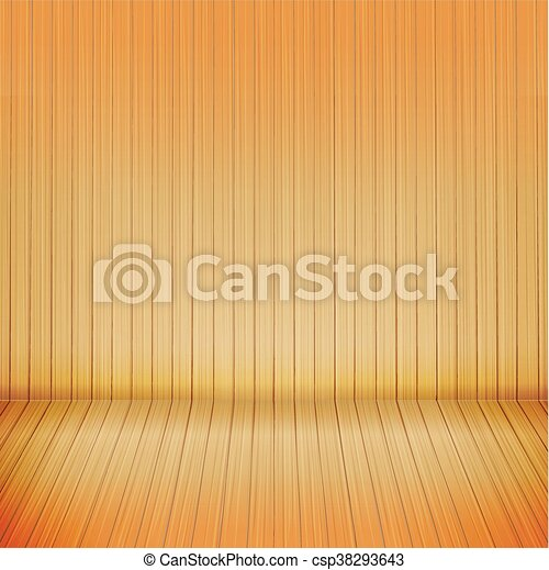 brown wood floor with wood background empty room with space vector