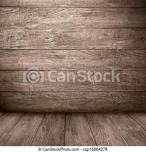 brown wooden background - csp15884278