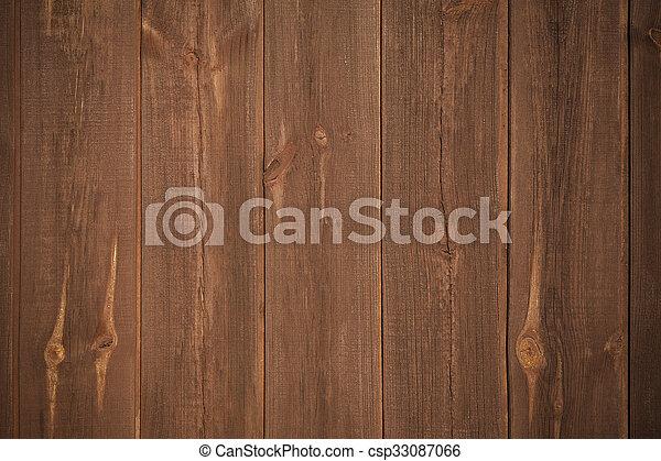 brown wooden background - csp33087066