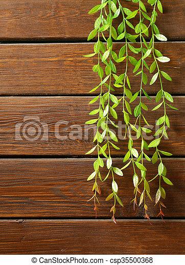 brown wooden background - csp35500368