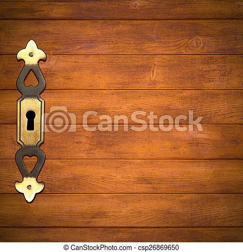 brown wooden background - csp26869650