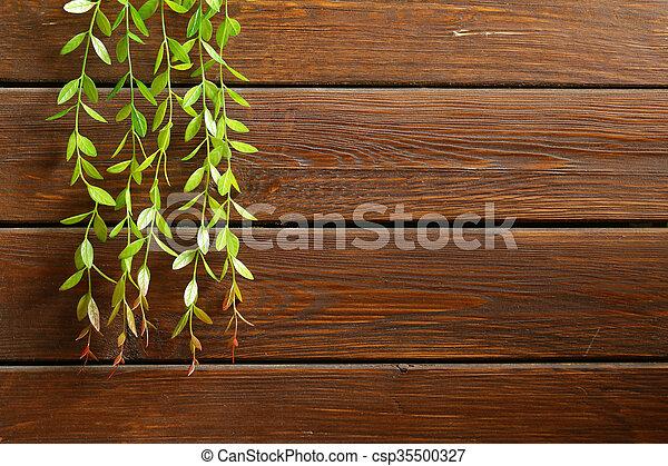 brown wooden background - csp35500327