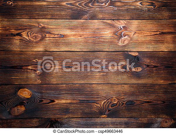 Brown wooden background. - csp49663446