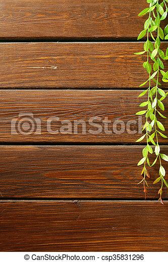 brown wooden background - csp35831296