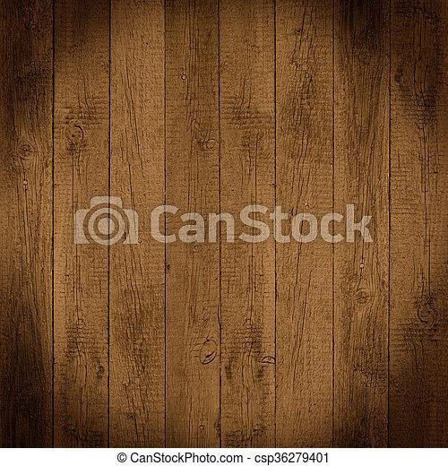 brown wooden background - csp36279401
