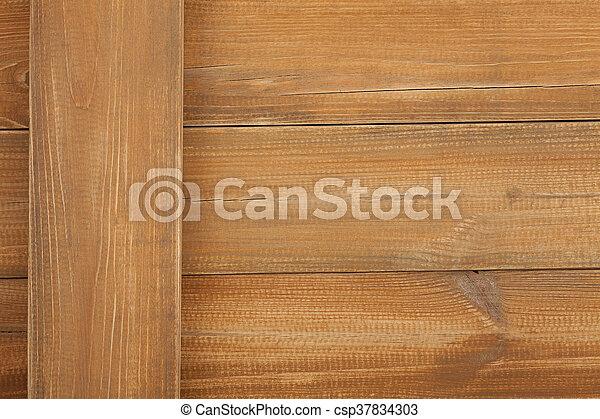 brown wooden background - csp37834303