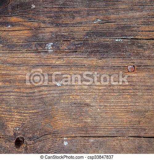 Brown wooden background - csp33847837