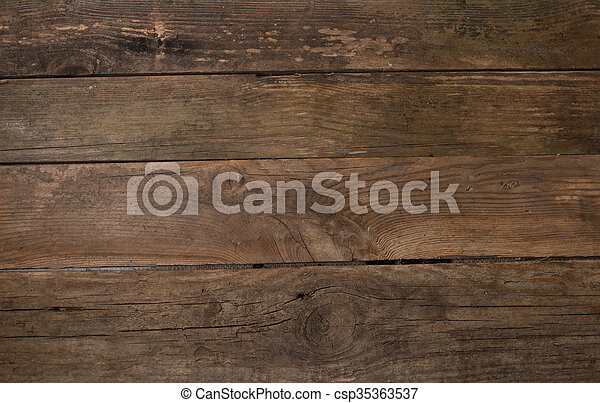brown wooden background - csp35363537