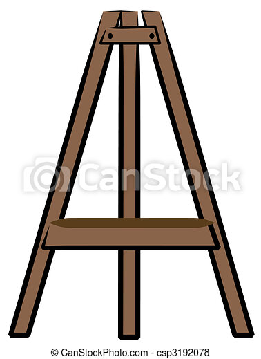 brown wooden craft or art easel rh canstockphoto com art easel clips Art Show Clip Art