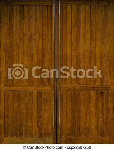 brown wooden door - csp22587250