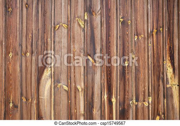 Brown wooden door texture background - csp15749567