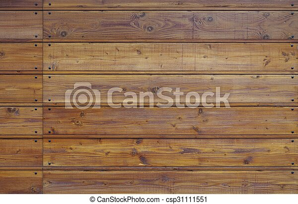 Brown wooden fence background - csp31111551
