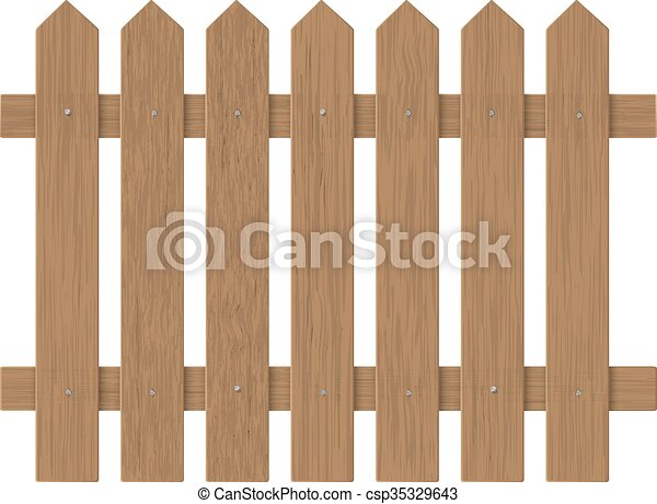 farm fence drawing. Brown Wooden Fence - Csp35329643 Farm Drawing