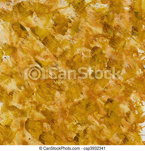 brown yellow splashes on canvas - csp3932341
