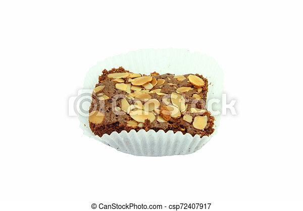 Brownie Cake on white background - csp72407917