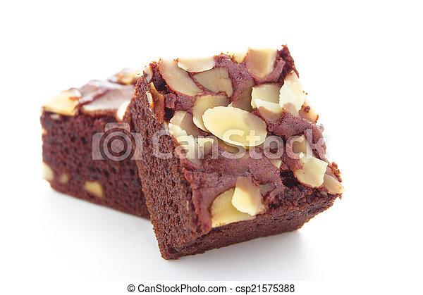 brownie on white background - csp21575388