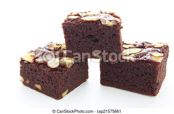brownie on white background - csp21575661