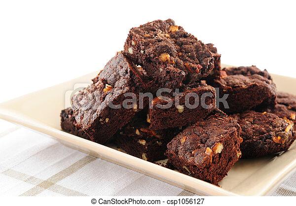 Brownies dessert - csp1056127