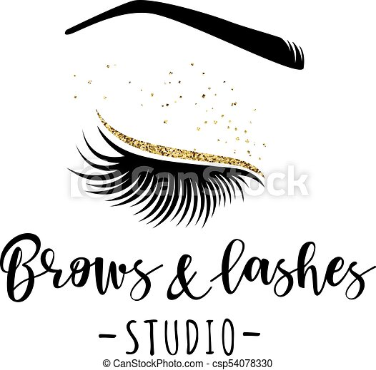 ea716639570 Brows and lashes gold logo. vector illustration of lashes and brow. for  beauty salon, lash extensions maker, brow master.