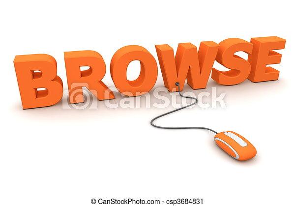 Browse Around - Orange Mouse - csp3684831