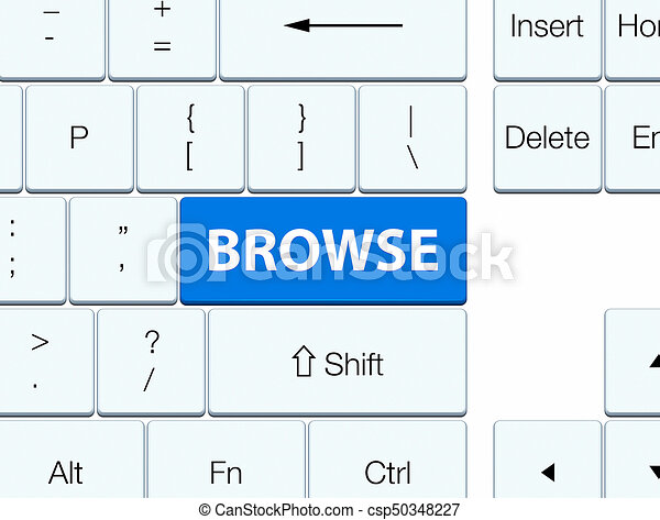 Browse blue keyboard button - csp50348227
