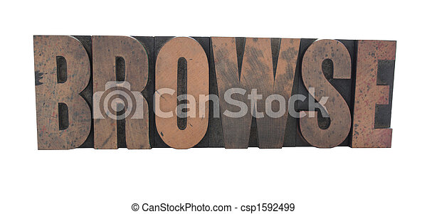 browse in old wood type - csp1592499