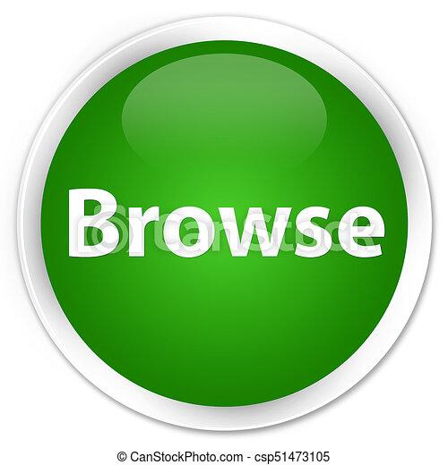 Browse premium green round button - csp51473105