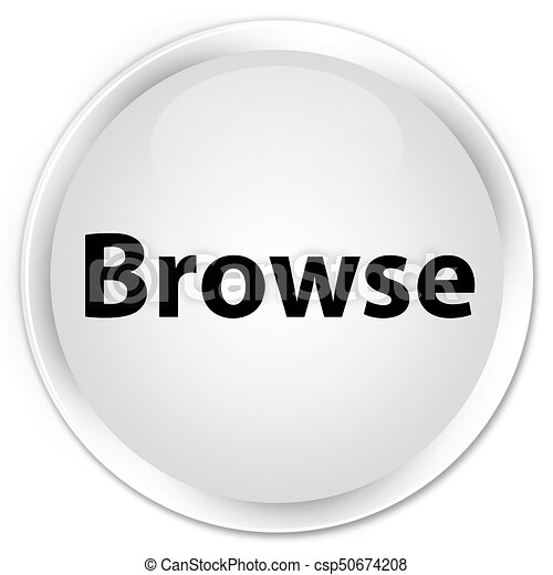Browse premium white round button - csp50674208