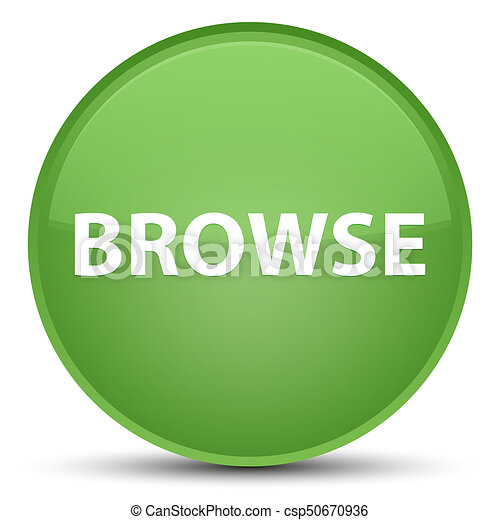 Browse special soft green round button - csp50670936