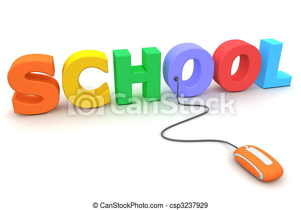 Browse the Colourful School - Orange Mouse - csp3237929
