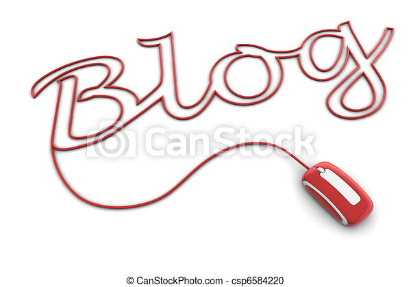 Browse the Glossy Red Blog Cable - csp6584220