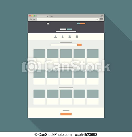 Browser flat icon4 - csp54523693