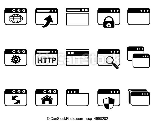 browser icon set 	 - csp14990202
