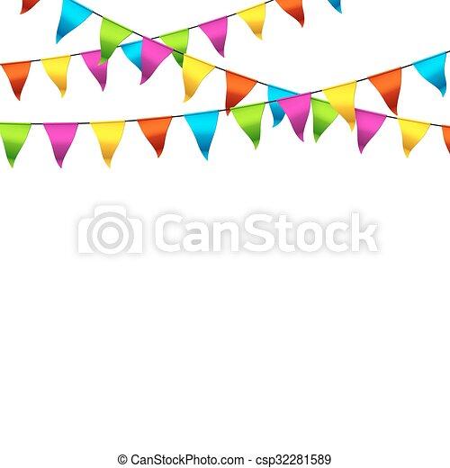 bruant, drapeaux, coloré - csp32281589