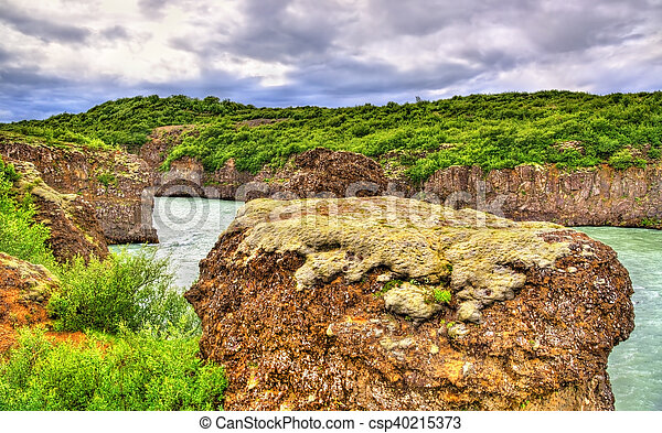 Bruarhlod Canyon of the Hvita river in Iceland - csp40215373