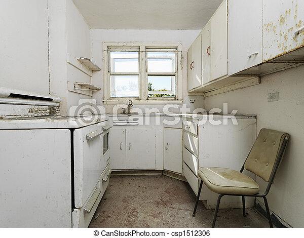brudny, opróżniać, kitchen. - csp1512306