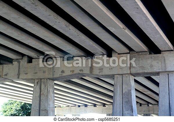 brug, balken, engineery, kolommen, beton - csp5685251