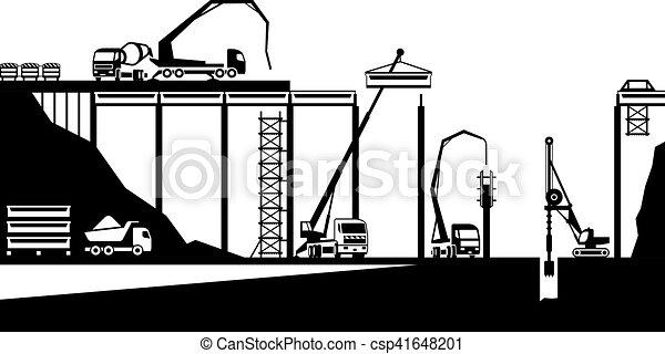 bruggenbouw, straat - csp41648201