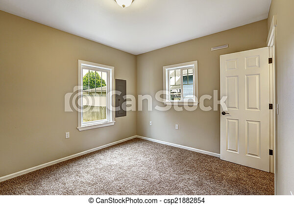 Bruine Slaapkamer Muur : Bruine kamer vloer beige lege tapijt bruine vloer
