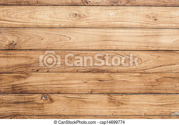 bruine , muur, groot, textuur, hout, achtergrond, plank - csp14699774