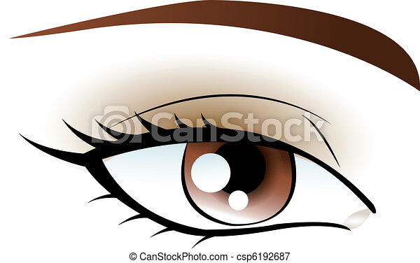 bruine , oog - csp6192687