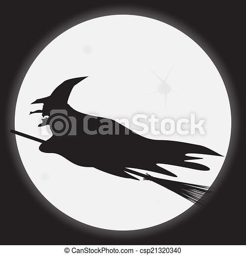 Bruja de Halloween - csp21320340