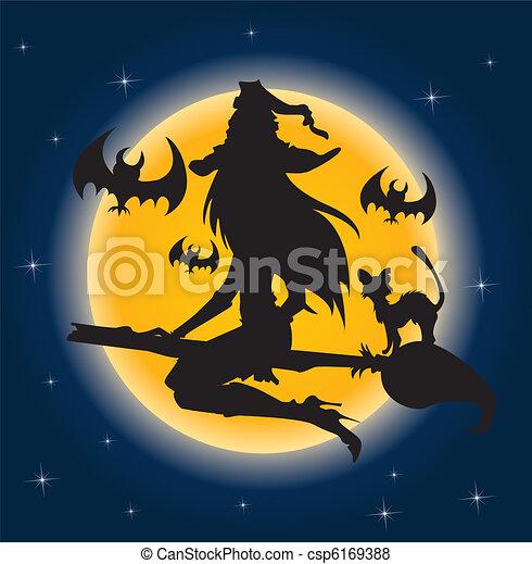 Bruja de Halloween - csp6169388
