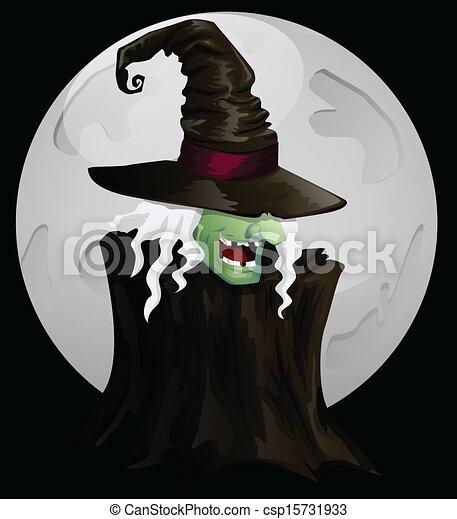 Bruja de Halloween - csp15731933
