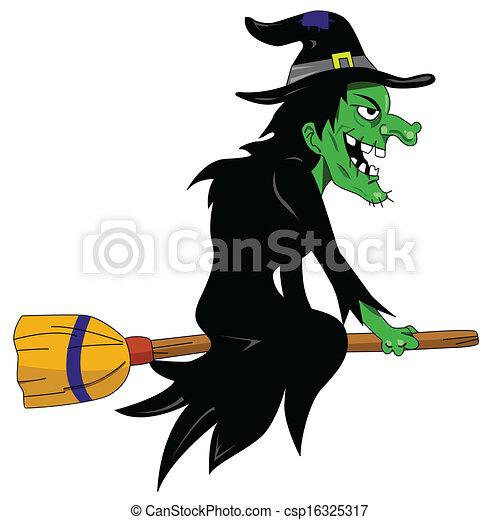 Bruja de Halloween - csp16325317