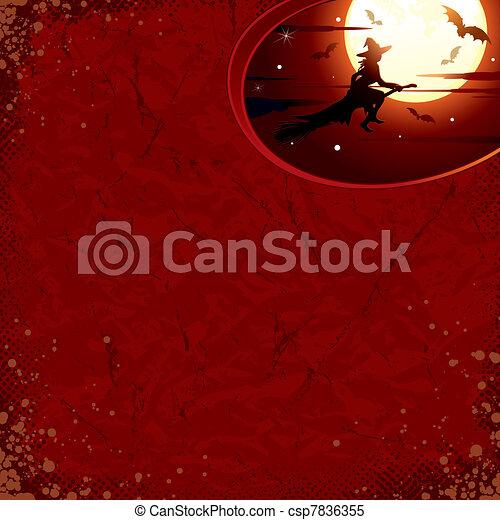 Noche de Brujas con bruja - csp7836355