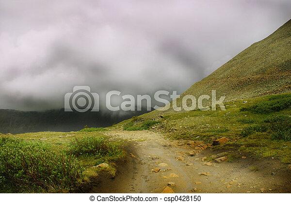 brumeux, route - csp0428150